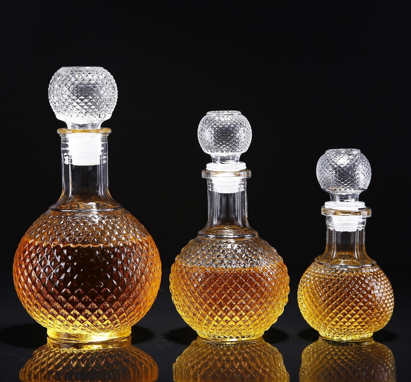 钻石酒瓶-玻璃瓶酒瓶