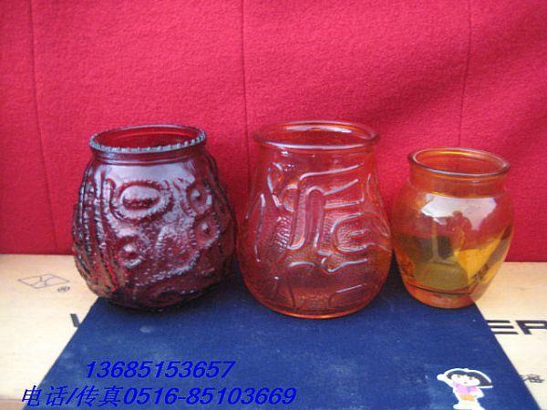玻璃烛台-喷色玻璃瓶